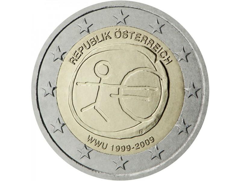 2 euros autriche 10 ans de l 39 euro 2012. Black Bedroom Furniture Sets. Home Design Ideas