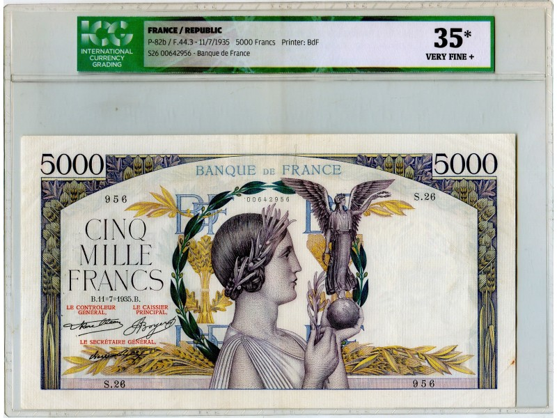 5000 Francs Victoire 1935 F.44.3