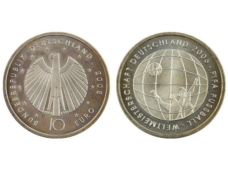 Pièce 10 Euros Allemagne 2006- Fifa