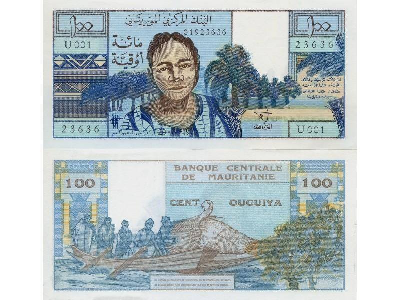 100 Ouguiya Mauritanie 1973  -P.1a