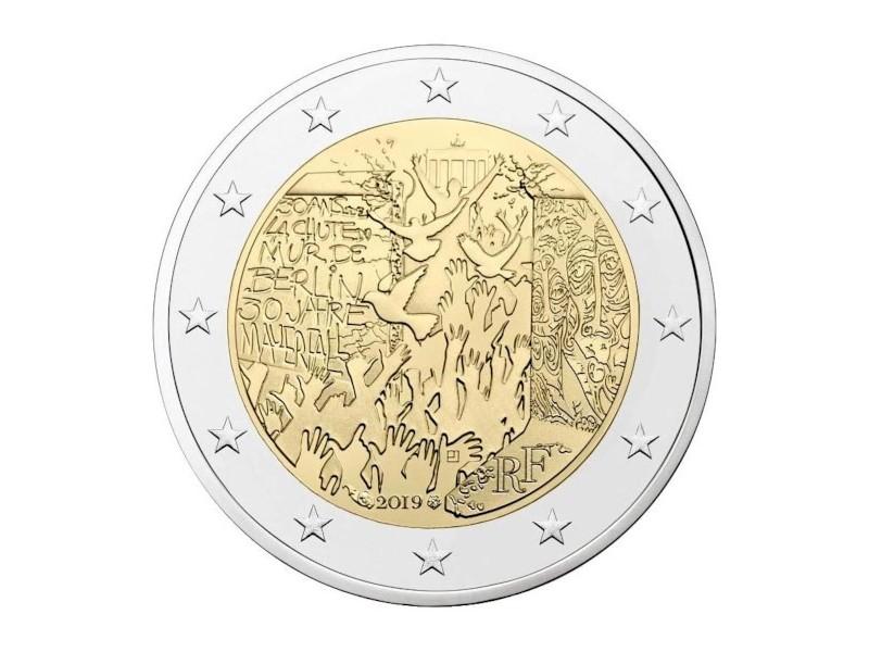FRANCE pièce 2 euros 2019- mur de Berlin