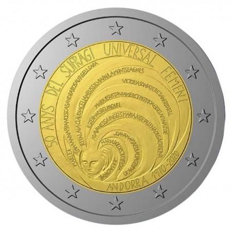 2 Euro ANDORRE 2020 -50 Ans du Suffrage Universel féminin