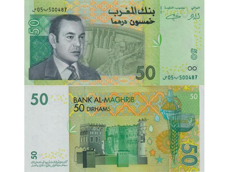 50 Dirhams Maroc 2002 P-69a