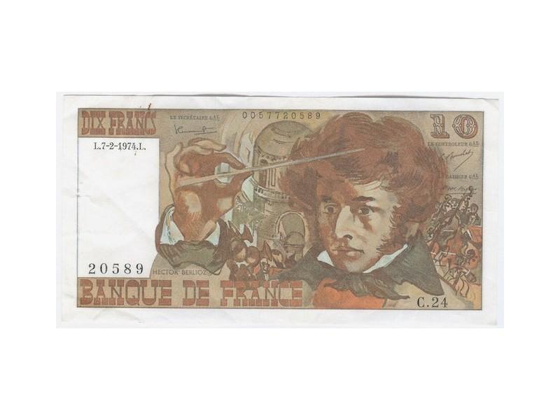 10 Francs BERLIOZ 1974  F.63.3TTB
