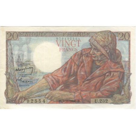 20 Francs PECHEUR 1949  F.13.16