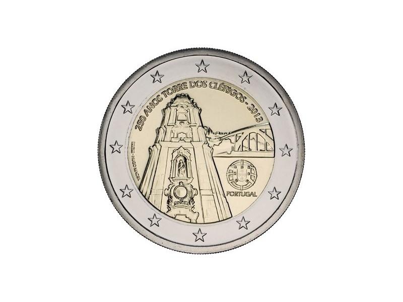 2 Euro Portugal 2013-250e anniversaire de la Tour des Clercs