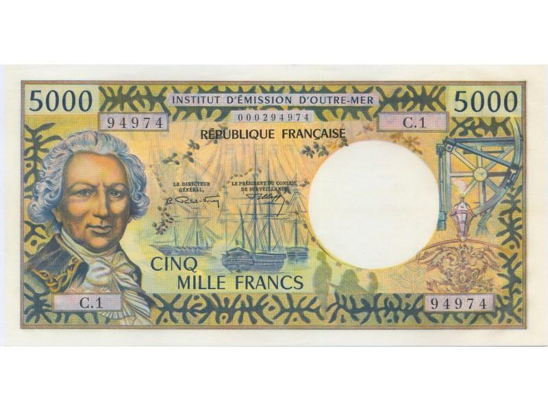 5000 FRANCS TAHITI P.28a NEUF
