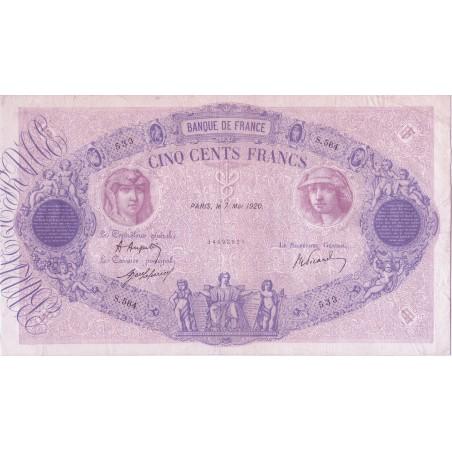 500 Francs Bleu & Rose 1920 F.30.24