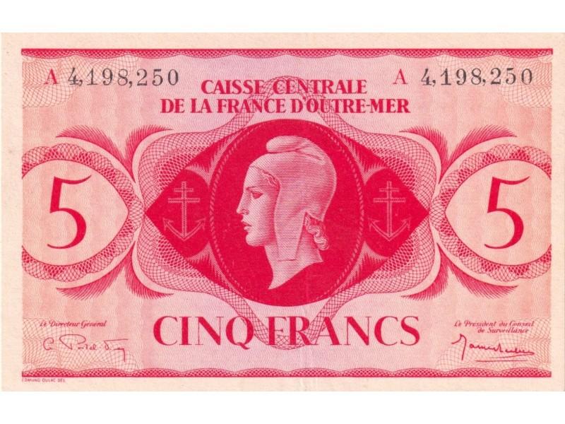 5 Francs AFRIQUE ÉQUATORIALE FRANÇAISE 1943 P.15d