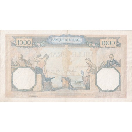 1000 Francs Cérès & Mercure France 1939 F.38.6