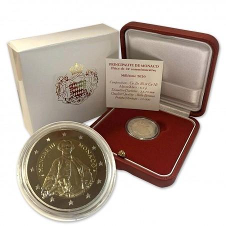 MONACO - Pièce BE 2 Euros commémorative 2020  300 Ans HONORÉ III