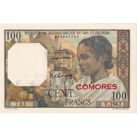 100 Francs COMORES 1960 P.3b