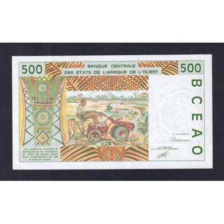 500 Francs ÉTATS DE L'AFRIQUE DE L'OUEST 1991 P.710Ka