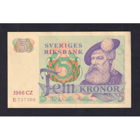 5 Kronor SUÈDE 1966 P.51a