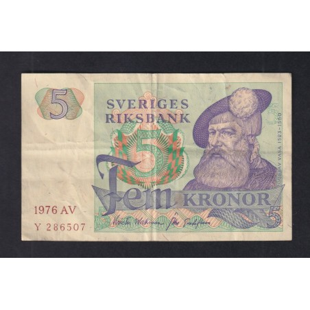 5 Kronor SUÈDE 1976 P.51c