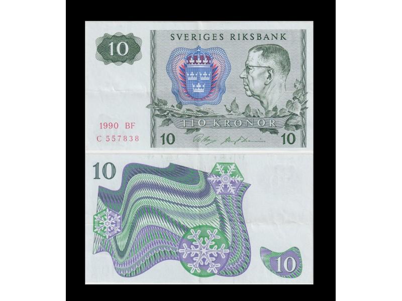 10 Kronor SUÈDE 1990 P.52e
