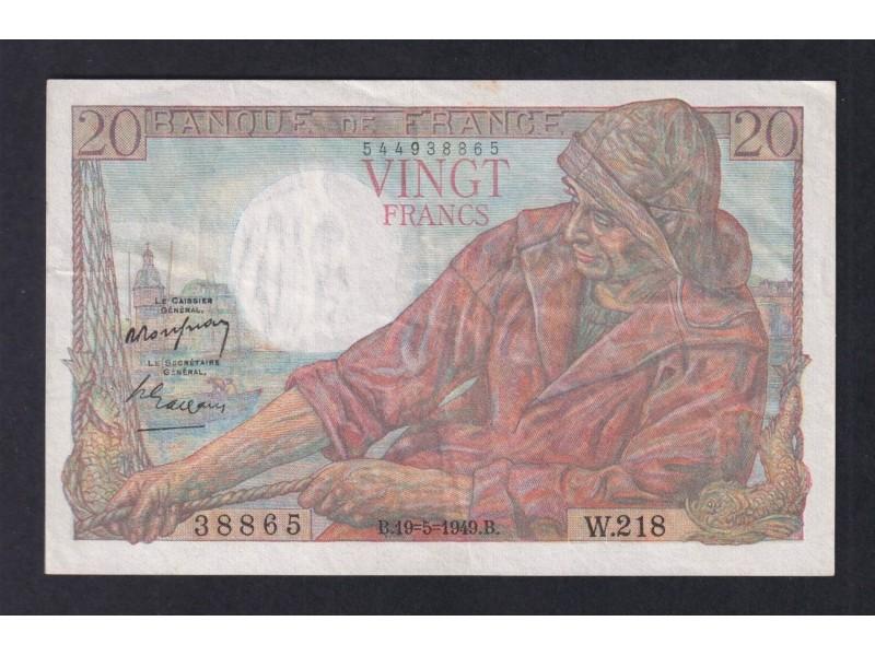 20 Francs Pecheur FRANCE 1949  F.13.15