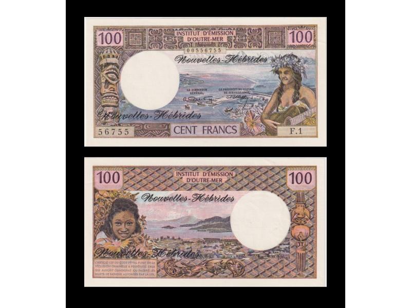 100 Francs NOUVELLES HÉBRIDES 1975 P.18c