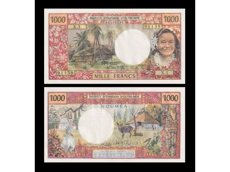 1000 Francs NOUVELLE CALÉDONIE 1969 P.61