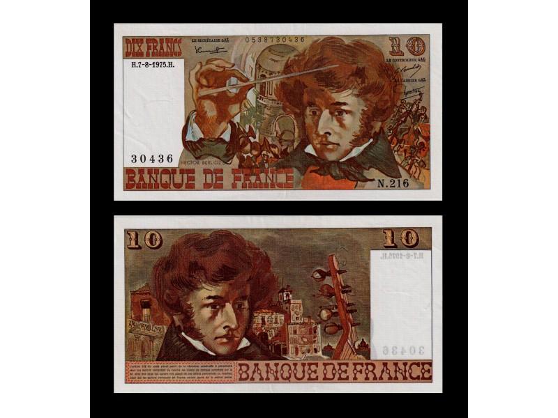 10 Francs Berlioz FRANCE 1974 F.63.12