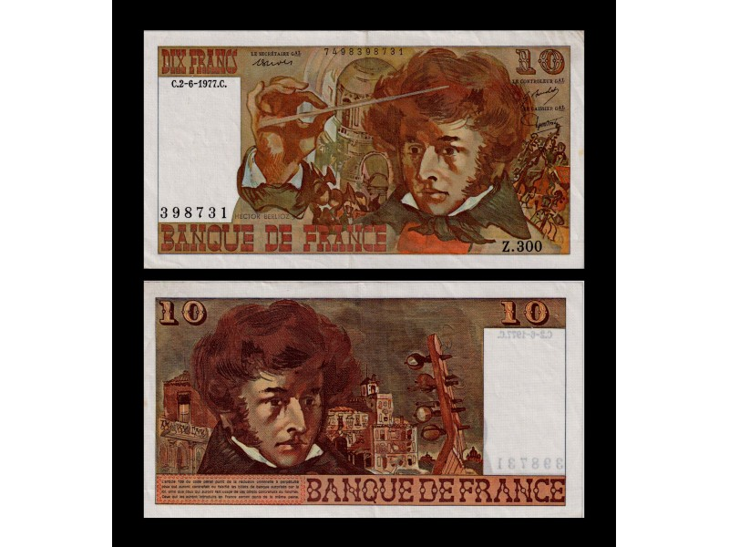 10 Francs Berlioz FRANCE 1977 F.63.22