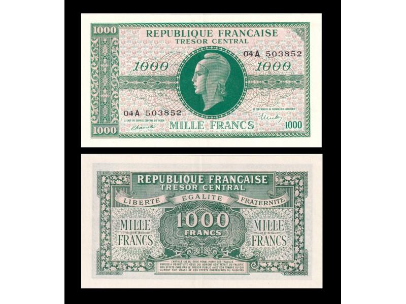 1000 Francs MARIANNE FRANCE 1945 VF.12.1