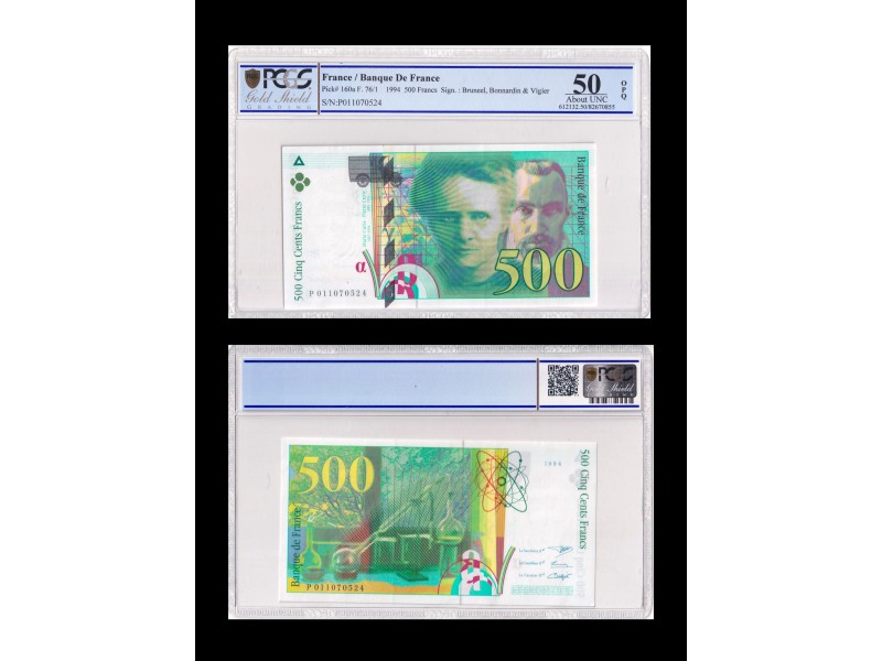 500 Francs Pierre Marie Curie FRANCE 1994 F.76-1