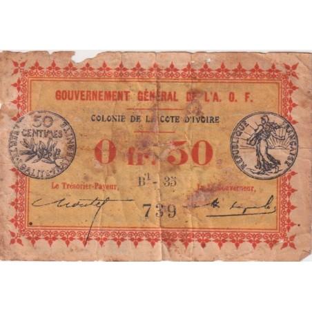 50 Franc COTE D'IVOIRE 1917 P.1b