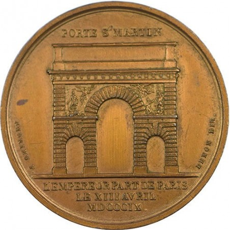 FRANCE Médaille Porte Saint-Martin départ de l'empereur porte de Carinthie