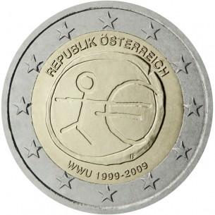 AUTRICHE pièce 2 Euros 2012-10 ans de l'euro 2012