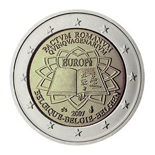 2 Euros com Belgique - 10 ans de l'euro 2012