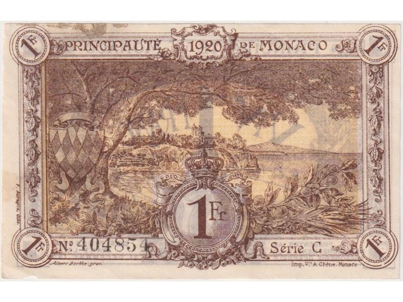 1 Franc MONACO 1920 P.4b