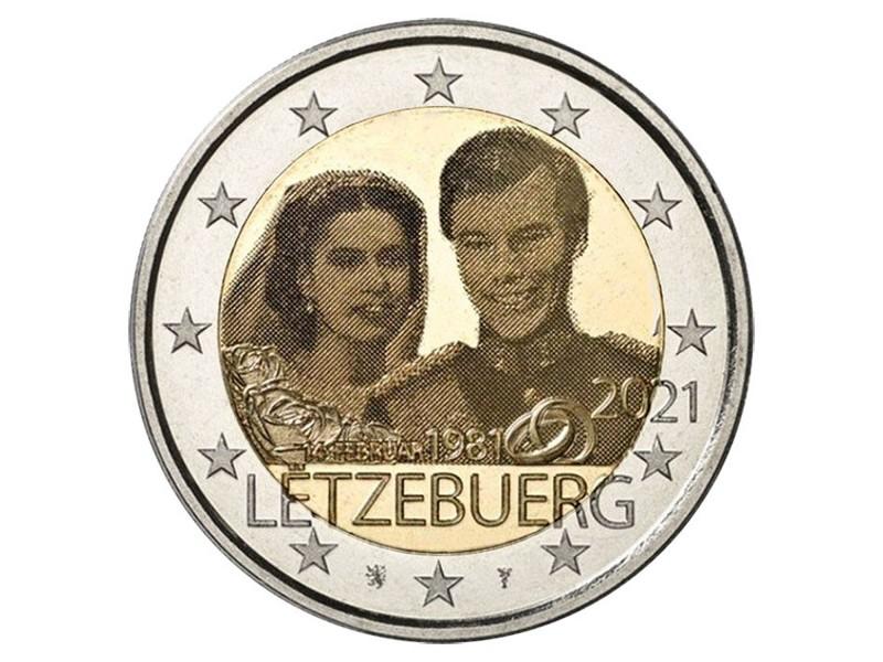 2 Euro Luxembourg 2021 - Mariage du...