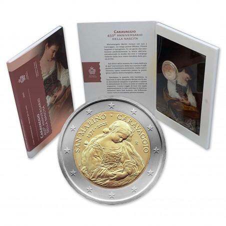 2 Euro SAINT-MARIN  2021 -450e anniversaire de la naissance du Caravaggio