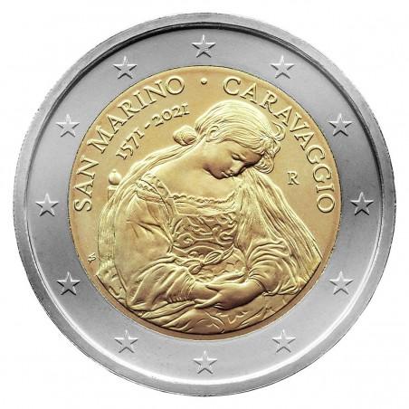 2 Euro SAINT-MARIN  2021 -450e anniversaire de la naissance du Caravaggio-horizondescollectionneurs.com