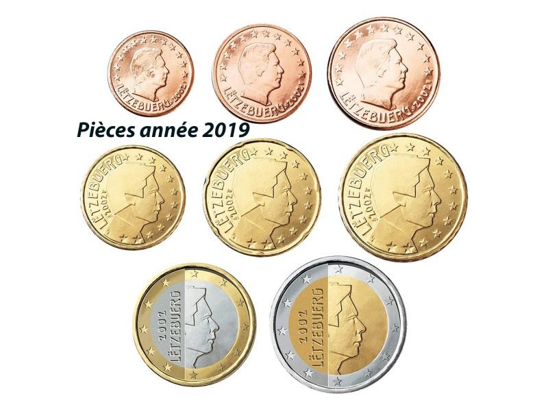 Série Euro 8 pièces LUXEMBOURG 2019