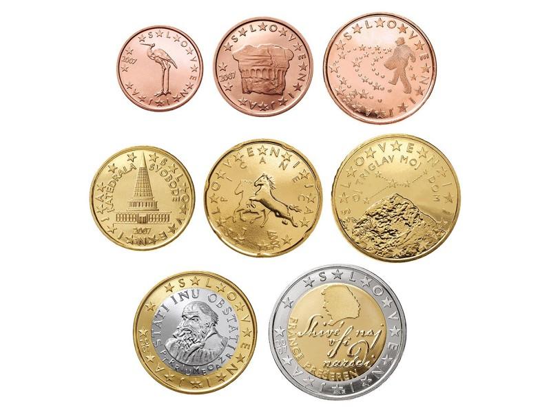 Série Euro 8 pièces SLOVÉNIE 2007