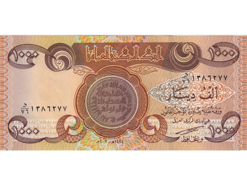 Irak 1000 Dinars 2003 P.93a