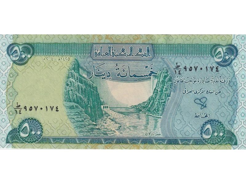 Irak 500 Dinars 2004 P.92