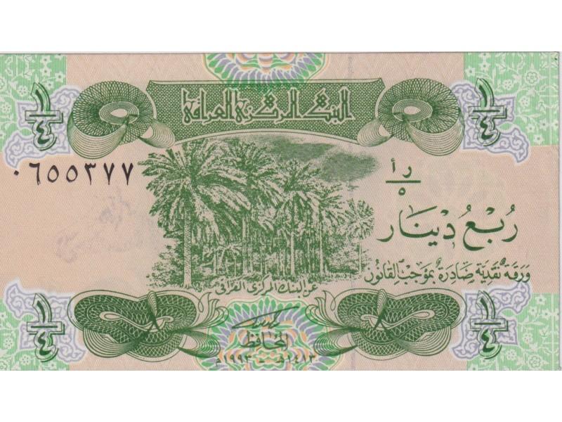 Irak 1/4 Dinar 1993 P. 77