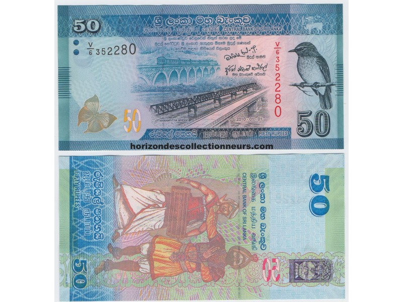 50 Rupees SRI LANKA 2010 P.124a NEUF