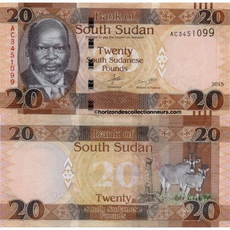 Billets du Sud Soudan