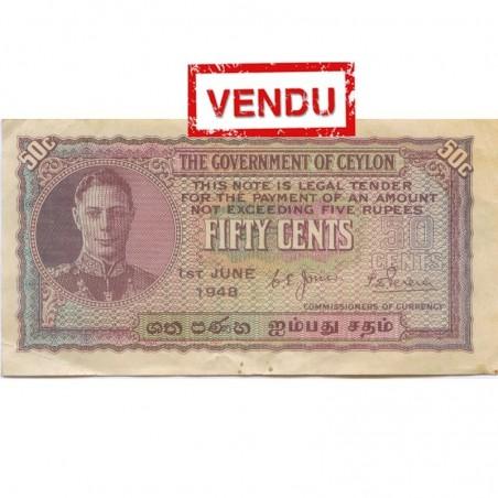 Billets de. Ceylon